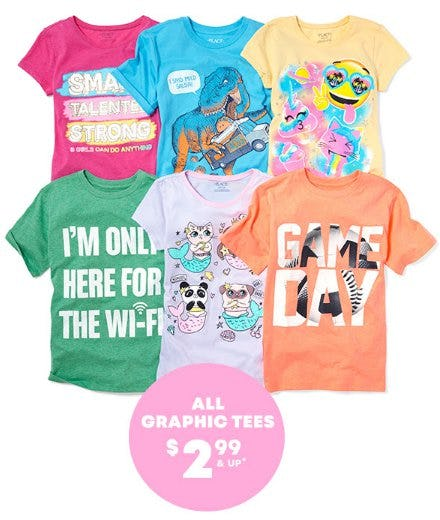 All Graphic Tees $2.99 & Up