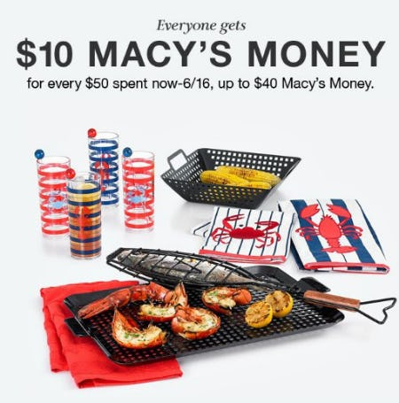 Everyone Gets $10 Macy's Money from macy's