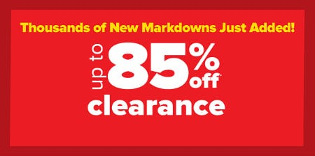 Up to 85% Off Clearance