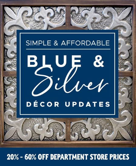 20-60% Off on Blue & Silver Decor from Tuesday Morning