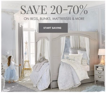 Pottery Barn Kids. Ending Today. 20u201370% Off Beds Bunks Mattresses u0026 More  sc 1 st  The Woodlands Mall & Sale at Pottery Barn Kids