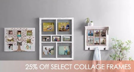25% Off Select Collage Frames