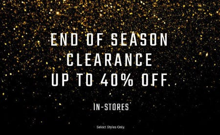 Up to 40% Off End of Season Clearance from Hibbett Sports