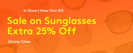 Extra 25% Off Sunglasses