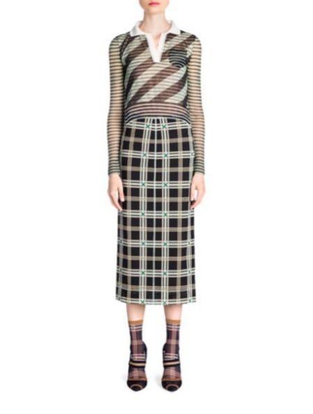 Fendi Stripe Polo Knit Top from Saks Fifth Avenue