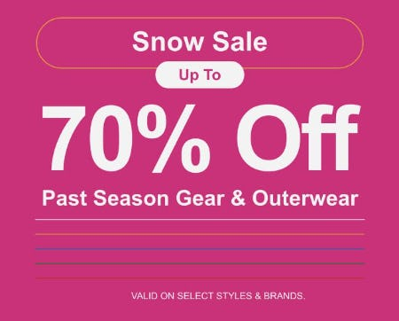 Snow Sale: Up to 70% Off Past Season Gear & Outerwear from Zumiez