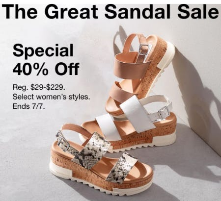 50% Off The Great Sandal Sale from Macy's