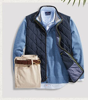 The Saltwater Performance Cotton 1/2-Zip from vineyard vines