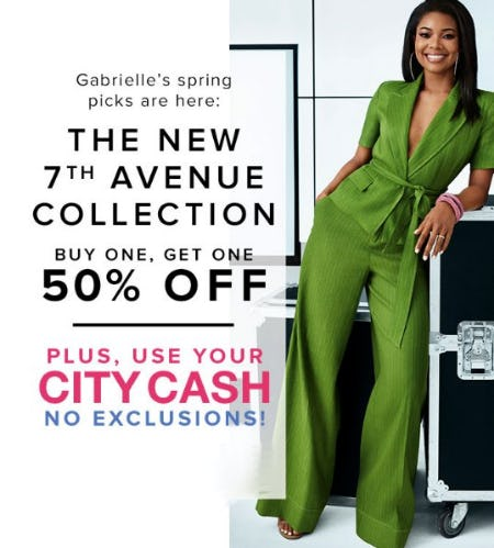 The New 7th Avenue Collection Buy One, Get One 50% Off from New York & Company