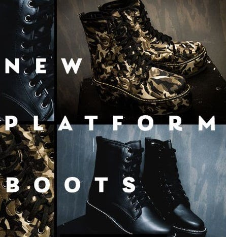 New Platform Boots from Shiekh