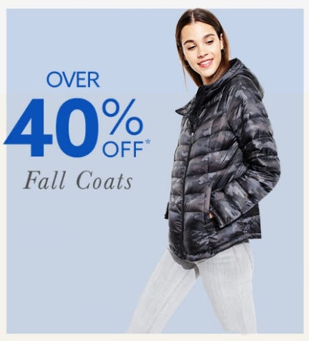 Over 40% Off Fall Coats