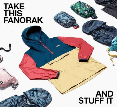 The Fanorak = Fanny Pack + Anorak from The North Face