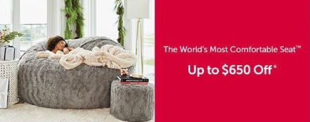 Up to $650 Off The World's Most Comfortable Seat from Lovesac Alternative Furniture