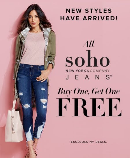 All soho Jeans Buy One, Get One Free from New York & Company