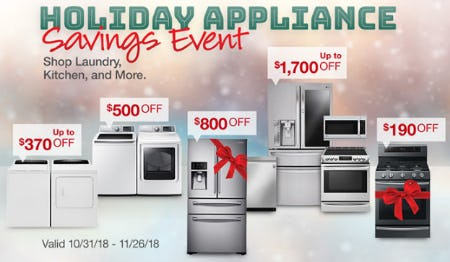 Holiday Appliance Savings Event Up to $1,700 Off from Costco