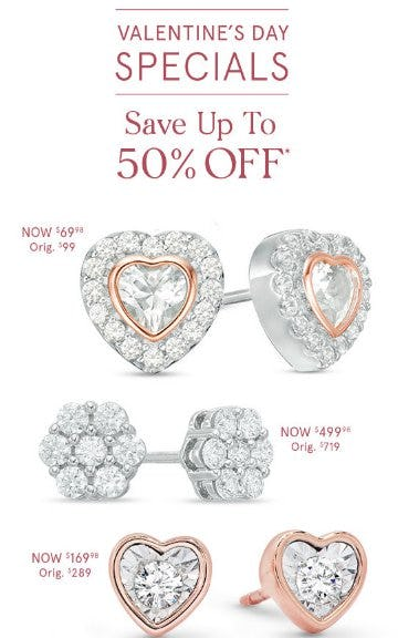 Valentine's Day Specials from Zales Jewelers