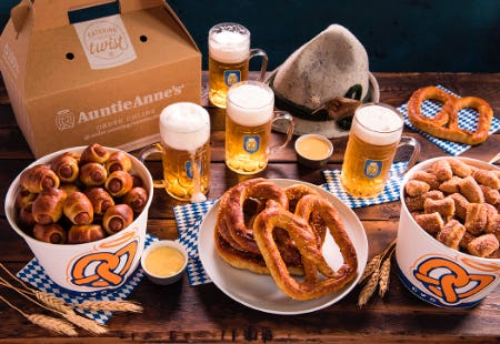 A Pretzel Package that makes Oktoberfest memorable. from Auntie Anne's