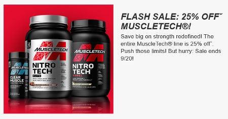 Flash Sale: 25% Off MuscleTech