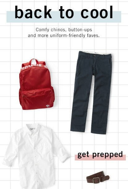 Meet Our Uniform-Friendly Faves! from abercrombie
