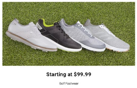 Golf Footwear Starting at $99.99