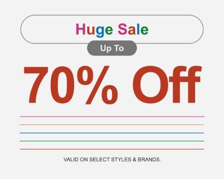 Huge Sale up to 70% Off