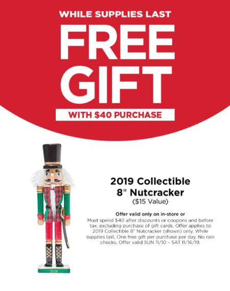 Free Gift with $40 Purchase from Michaels