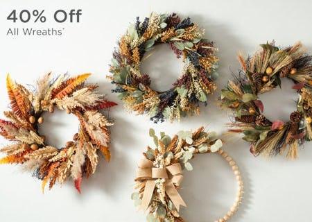 40% Off All Wreaths from Kirkland's