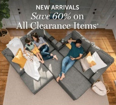 60% Off All Clearance Items