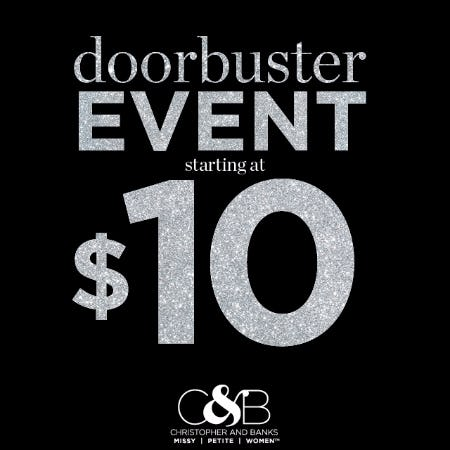 Doorbuster Event styles starting at $10