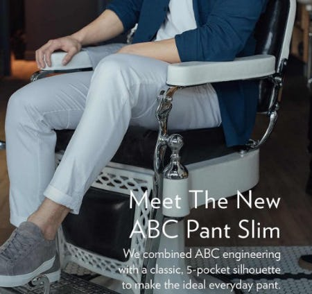 Meet The New ABC Pant Slim
