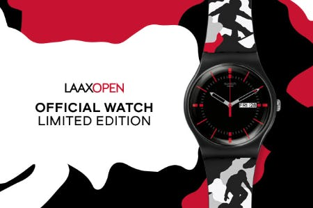 Official LAAX OPEN 2020 Limited Edition Watch from Swatch