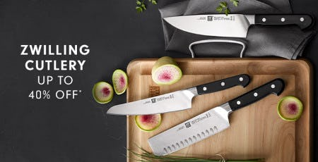 Zwilling Cutlery Up to 40% Off