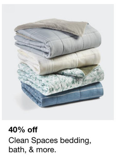 40% Off Clean Spaces Bedding, Bath, & More from macy's