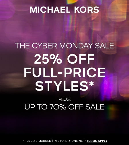 Cyber Monday Sale from Michael Kors