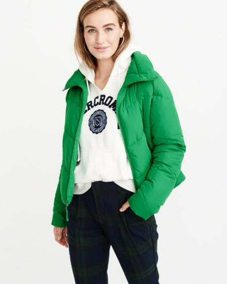 Mock Neck Puffer from Abercrombie & Fitch
