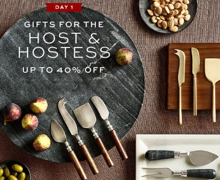 Up to 40% Off Gifts for the Host & Hostess from Pottery Barn