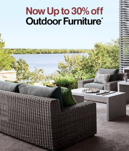 Now up to 30% Off Outdoor Furniture from Crate & Barrel
