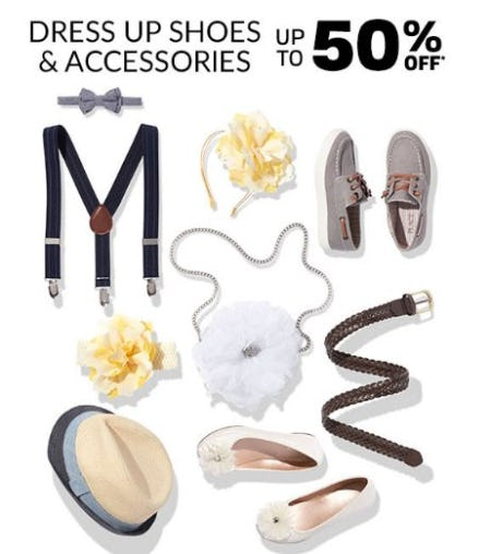 Dress Up Shoes & Accessories up to 50% Off