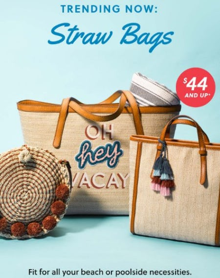Straw Bags $44 and Up from Fossil