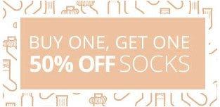 Buy One, Get One 50% Off Socks