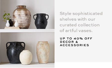 Up to 40% Off Decor & Accessories from Pottery Barn