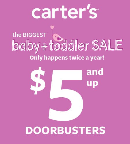 $5 & Up Baby Doorbusters from Carter's