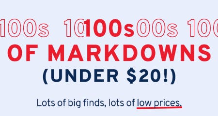 100s of Markdowns Under $20 from Marshalls