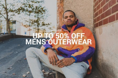 Up to 50% Off on Men's Outerwear from DTLR