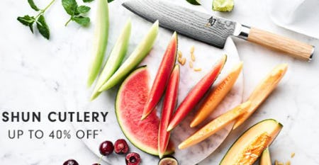 Shun Cutlery up to 40% Off