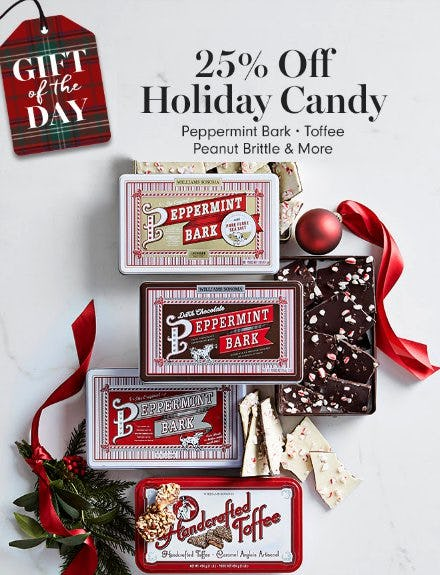 Up to 25% Off Holiday Candy from Williams-Sonoma