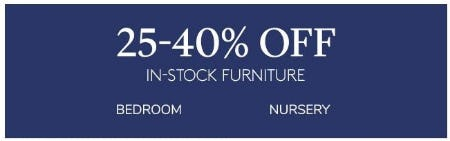 25–40% Off In-stock Furniture from Pottery Barn Kids