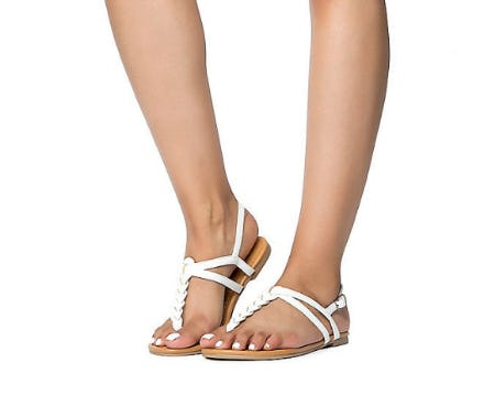 Soda White PU Women Judith-S Casual Sandal from Shiekh