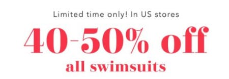 40-50% Off All Swimsuits from Aerie
