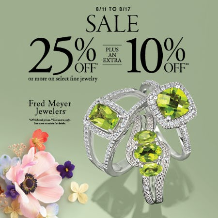 August 7 Day Sale from Fred Meyer Jewelers
